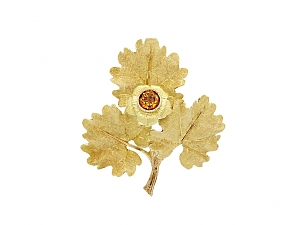 M. Buccellati Citrine Leaf Brooch in 18K