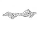 Antique Edwardian Diamond Bow Brooch in Platinum