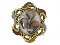 Antique Victorian Agate Brooch in 15K