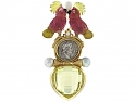Elizabeth Gage Cockatoo and Ancient Coin Brooch in 18K