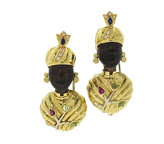 Pair of Moretto Brooches in 18K