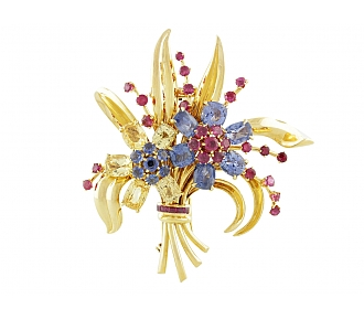 Van Cleef & Arpels Passe-Partout Flower Brooch in 18K