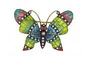 Diamond Plique-à-jour Butterfly Brooch in 18K