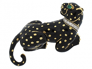 David Webb Leopard Brooch in 18K