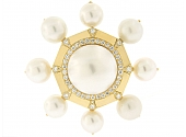 Tallarico Mabe Pearl and Diamond Brooch in 18K
