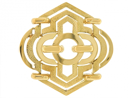 David Webb Geometric Brooch/Pendant in 18K Gold