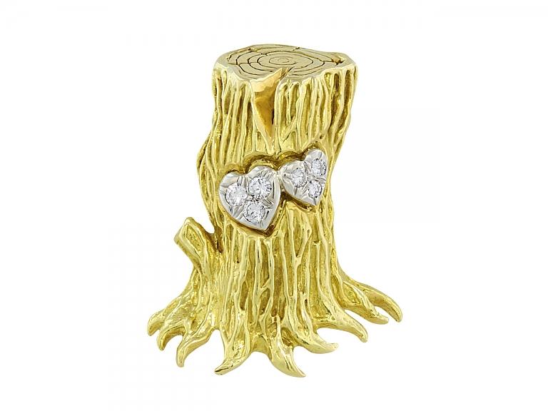 Video of Cartier Aldo Cipullo Tree Brooch in 18K Gold