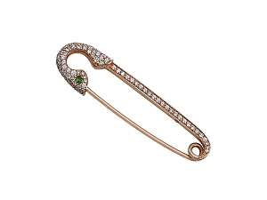 Crow's Nest 'Safety First' Brooch in 18K Rose Gold