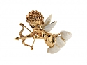 Video of Ruser American Freshwater Pearl Cupid Brooch in 14K Gold