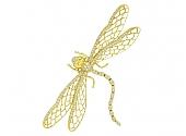 Dragonfly Brooch in 18K Gold