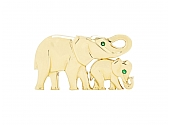 Cartier Elephant Mother and Child Brooch in 18K Gold