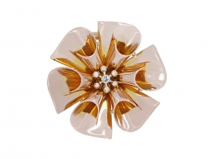 Mid-Century Flower Brooch in 14K Rose Gold