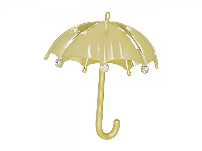 Video of Tiffany & Co. Umbrella Brooch in 18K Gold