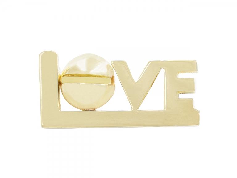 Video of Cartier Aldo Cipullo Love Pin in 18K Gold