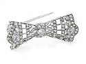 Antique Diamond Bow Pin in Platinum