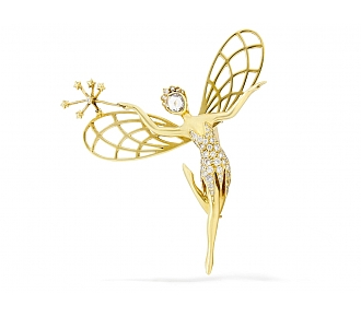 Van Cleef & Arpels 'Spirit of Beauty' Diamond Pin in 18K Gold