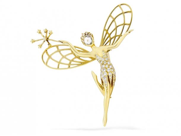 Van Cleef & Arpels 'Spirit of Beauty' Diamond Pin in 18K Gold