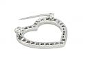 Tiffany 'Outline' Diamond Heart Brooch in Platinum