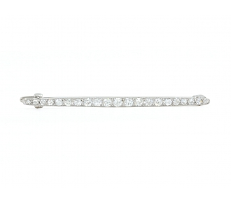 Cartier Art Deco Diamond Pin in Platinum