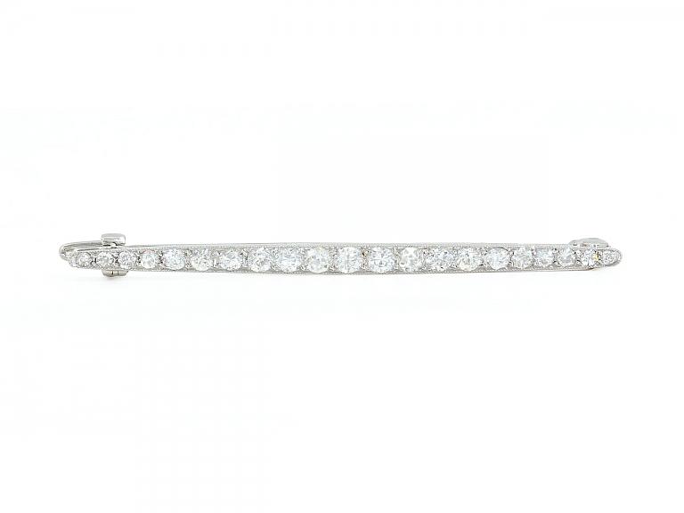 Video of Cartier Art Deco Diamond Pin in Platinum