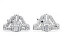 Pair of Art Deco Diamond Brooches in Platinum