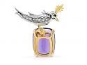 Tiffany & Co. Schlumberger 'Bird on a Rock', Amethyst, Diamond and Ruby Brooch