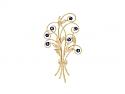 Tiffany & Co. Retro Montana Sapphire Bouquet Brooch in 14K Gold