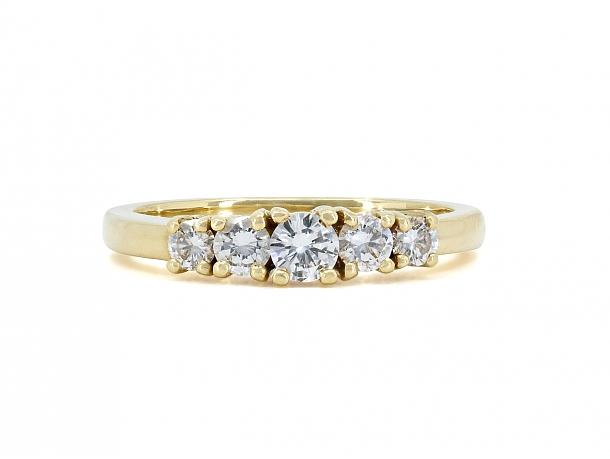Tiffany & Co. Five Stone Diamond Ring in 18K
