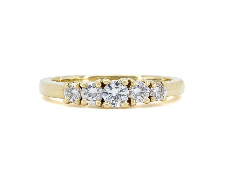 Video of Tiffany & Co. Five Stone Diamond Ring in 18K