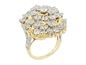 Ruser Diamond Ring in Gold and Platinum and 18K