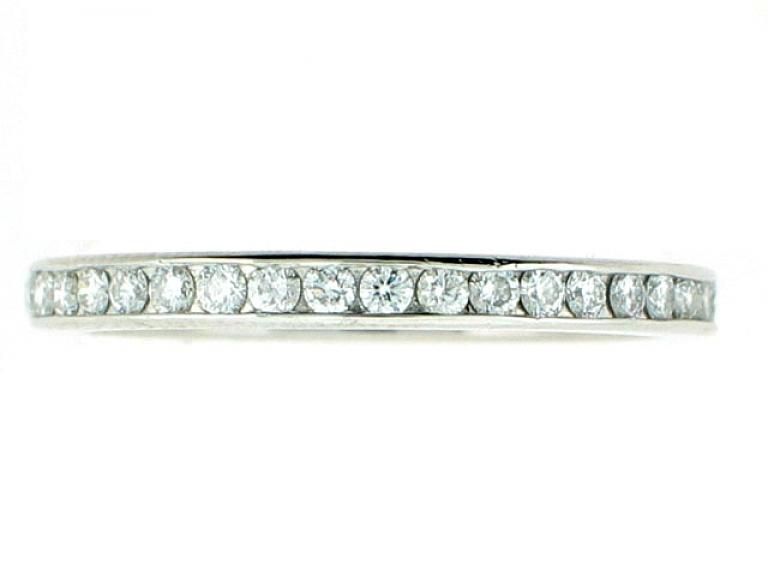 Video of Tiffany & Co. Diamond Eternity Band in Platinum
