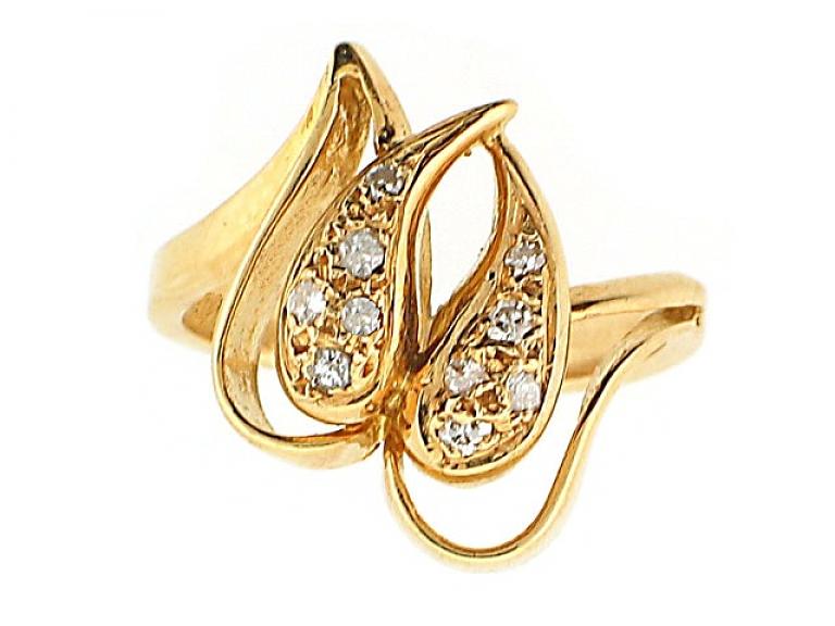 Video of Ilias Lalaounis Diamond Ring in 18K