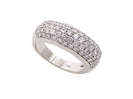 Diamond Boule Ring in 18K White Gold