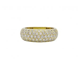 Diamond Boule Ring in 18K Gold
