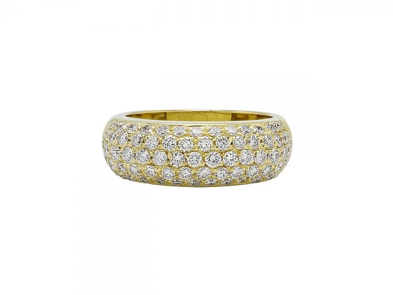 Video of Diamond Boule Ring in 18K Gold