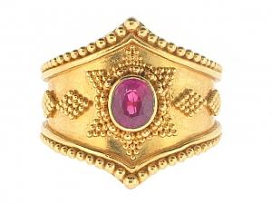 Burma Ruby Ring in 22k Gold
