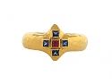 Cathy Waterman Sapphire and Ruby Ring in 22K