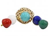 David Webb Multi-Gemstone Ring in 18K Gold