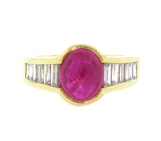 Ruby and Diamond Ring in 18K