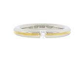 Niessing Diamond Tension Ring in 18K and Platinum