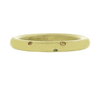 Niessing Gold Band with Diamonds in 18K