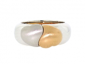 Double Heart 'I Love You' Ring in 18K
