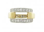 David Webb Diamond Ring in 18K and Platinum