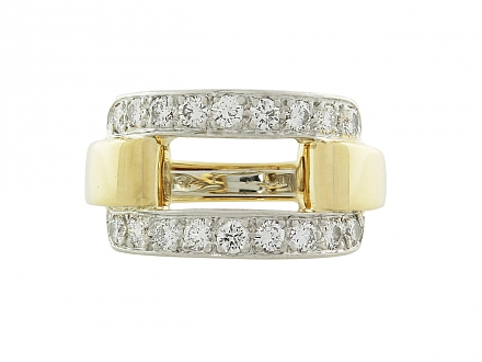 David Webb Diamond Ring in 18K and Platinum