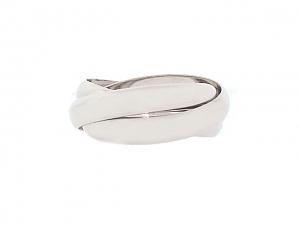 Cartier 'Trinity de Cartier' Rolling Ring in 18K White Gold