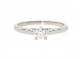 Cartier 0.20 Carat Diamond Solitaire 1895 Ring in Platinum