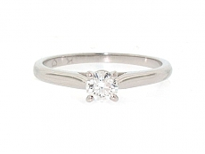 Cartier 0.20 Carat Diamond Solitaire 1895 Ring in Platinum