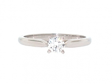 Cartier 0.23 Carat Diamond Solitaire 1895 Ring in Platinum