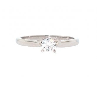 Cartier 0.23 Carat Diamond Solitaire 1895 Ring in Platinum