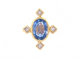 Cathy Waterman Sapphire and Diamond Ring in 22K